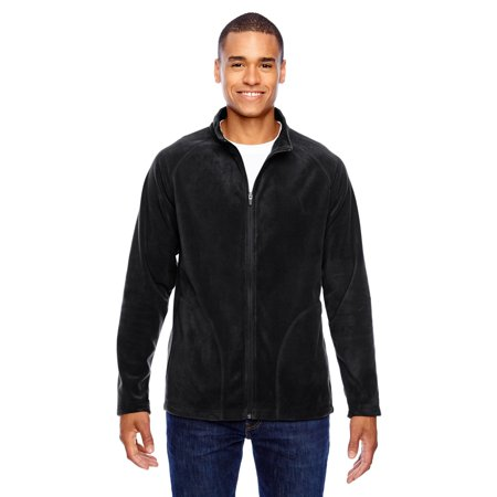Big And Tall Cotton Vest - Campus Microfleece Men's Big and Tall Black Jacket