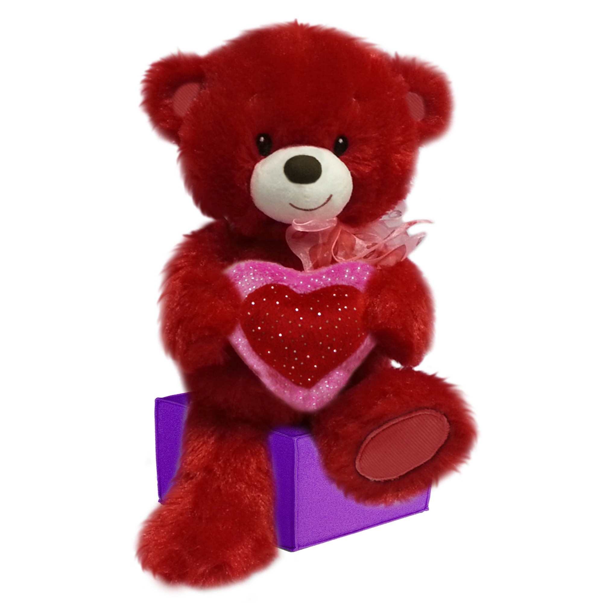First and Main - 10 Inch Red Lovey Cuddleup Plush