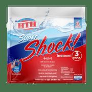 HTH Super Shock Pool Shock Treatment, 1 lb Granule Bags, 6 ct
