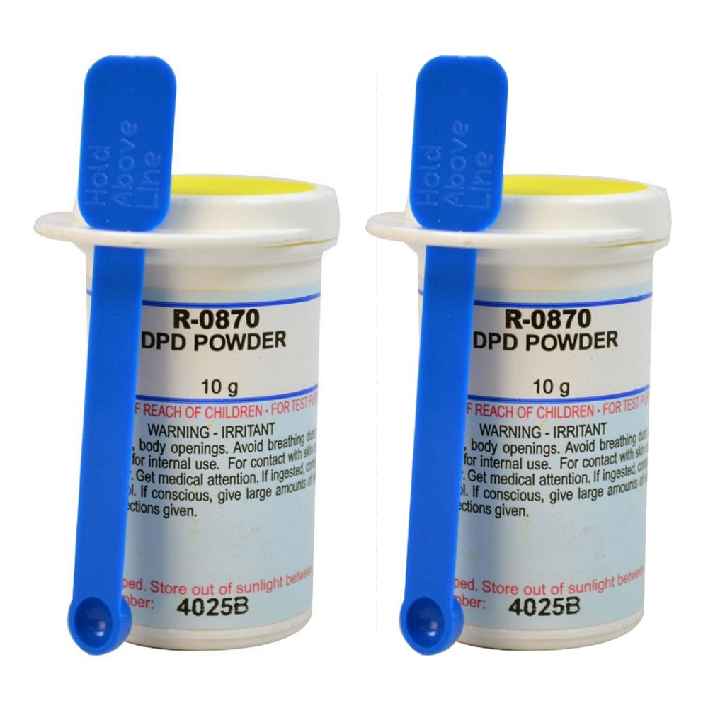 Taylor R0870-I Swimming Pool Test Kit Replacement DPD Powder 10 Grams (2 Pack)