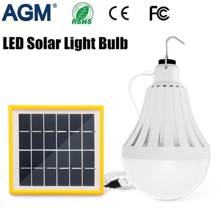 5/7/9W Portable LED Solar Panel USB Powered Bulb Emergency Lamps Lighting for Hiking Fishing Camping Tent Emergency (Used Msr Hubba Hubba Tent For Sale)
