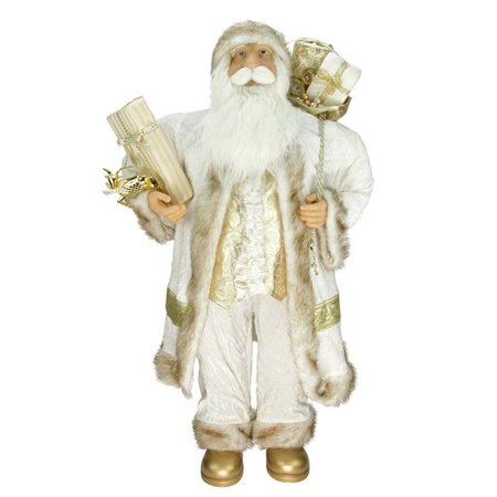 Northlight Seasonal Glorious Standing Santa Claus Christmas Figure with Gift Bag