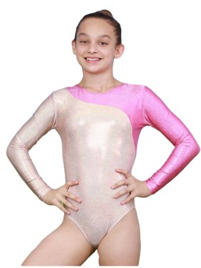 VEVA by Very Vary Girls Pearl Pink Mercury Mystique Gymnastics Leotard