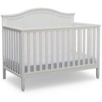 Delta Children Madrid 4-in-1 Convertible Baby Crib, Bianca White