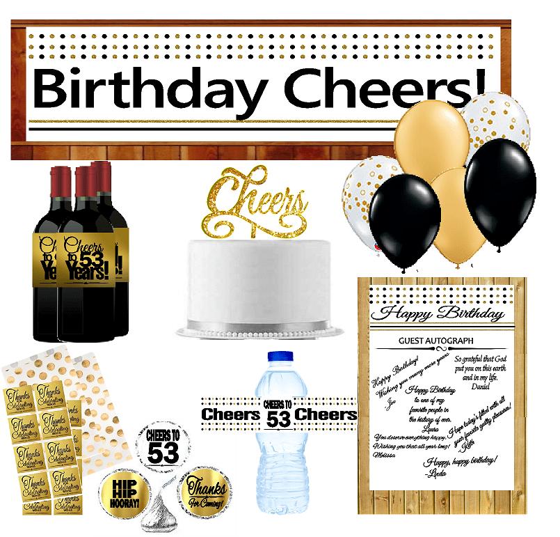 53rd Birthday Party DecorationsDecoraitons Kit w. Banner ...