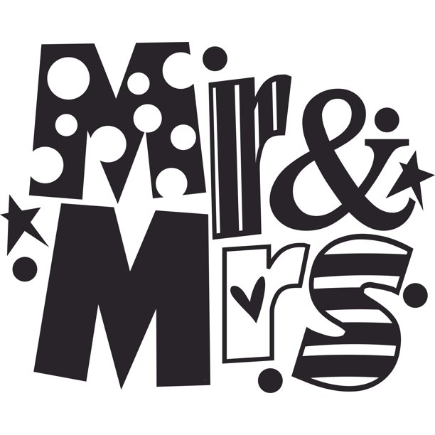Mr And Mrs Stripes Polka Pattern Customized Wall Decal Custom Vinyl Wall Art Personalized Name Baby