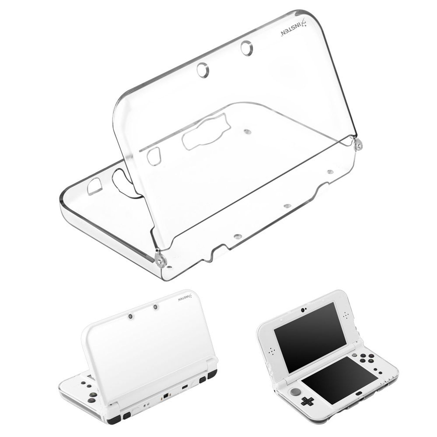 New 3DS XL case, 3DS XL case, by Insten Crystal Clear Hard Protective Shell Cover Case For Nintendo New 3DS XL / New 3DS LL