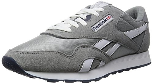 Reebok Classic Nylon Running Shoe Platinum Jet Blue Mens by Reebok