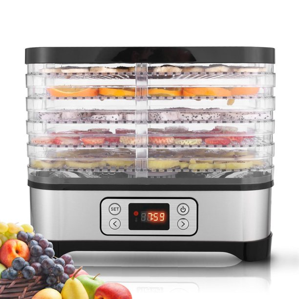 5 Tray Food Dehydrator Machine Professional Electric Multi Tier