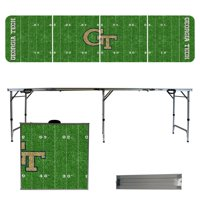 Georgia Tech Yellow Jackets 8' Football Field Portable Folding Tailgate Table