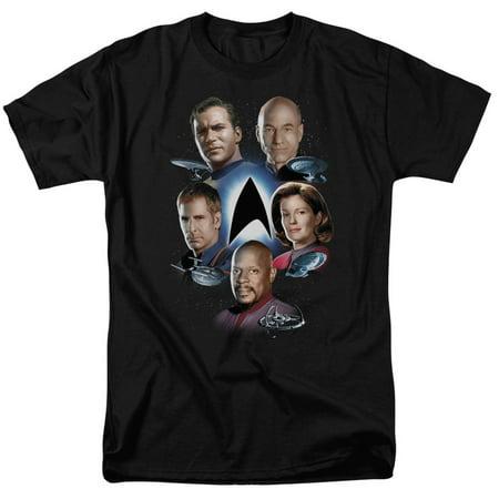Star Trek Starfleet's Finest Mens Short Sleeve Shirt (T-rex Merchandise)