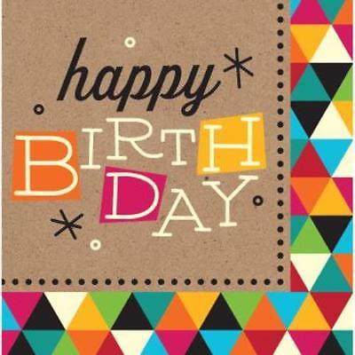 Birthday Kraft Happy Birthday Lunch Napkins , 2PK - Birthday Jpg