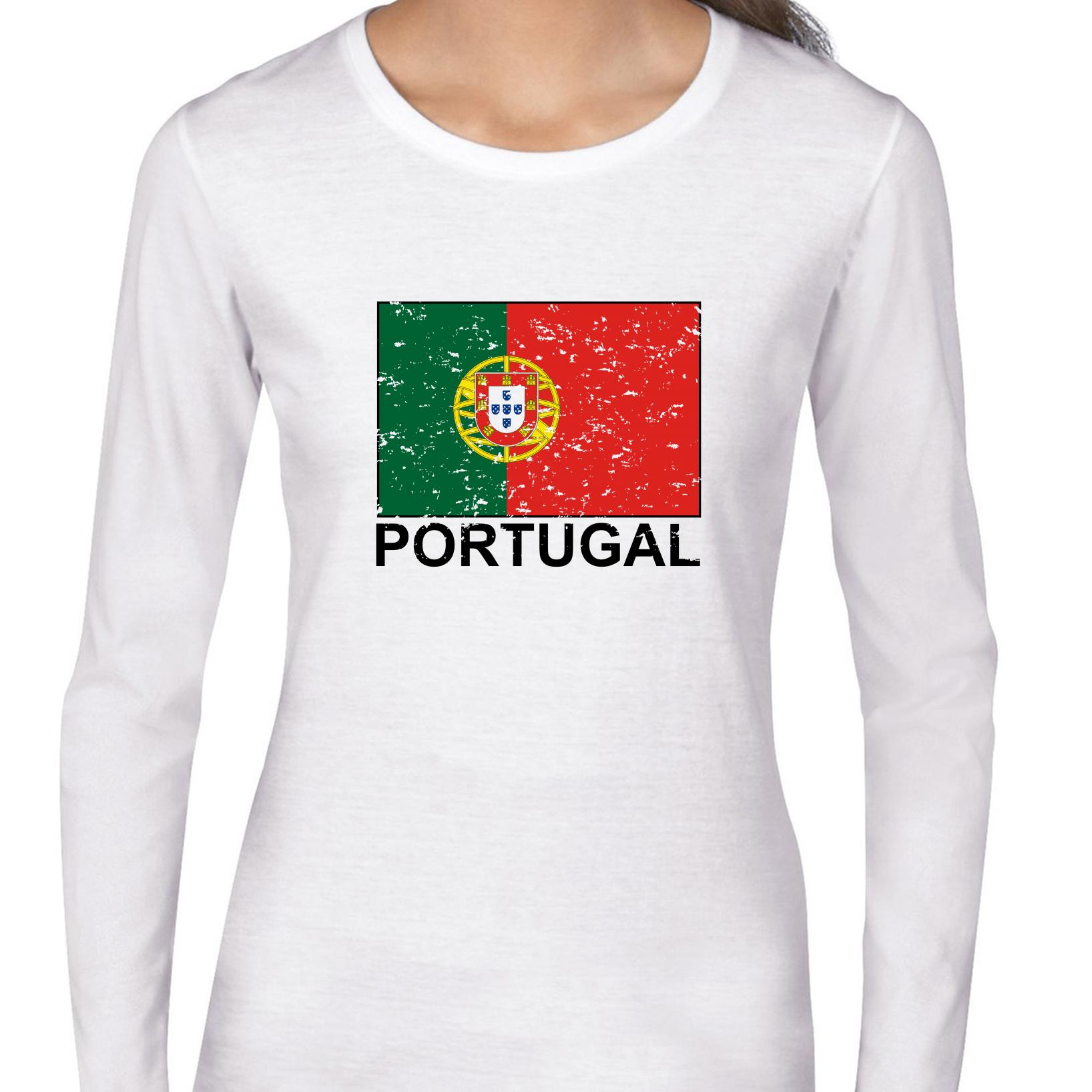 Portugal Flag Special Vintage Edition Women