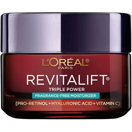 L'Oreal Paris Revitalift Triple Power Anti-Aging Cream, Fragrance Free, 1.7 oz.