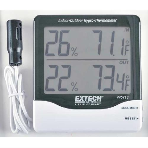 EXTECH 445713 In/Out Digital Hygrometer, 14 to 140 F