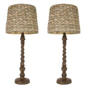 Decor Therapy Darkbo 29-inch Lamps with Seagrass Shade (Set of 2)