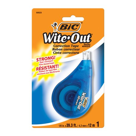 BIC Wite-Out Brand EZ Correct Correction Tape, White, 1 Count (Bic Correction Tape)