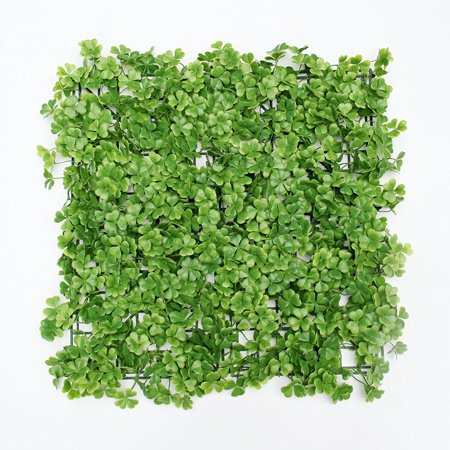 Sunwing Pack of 12, Artificial Boxwood Foliage 3-leaf Greenery Panel for Plastic Garden Hedges, Home, Wedding Decor, 20