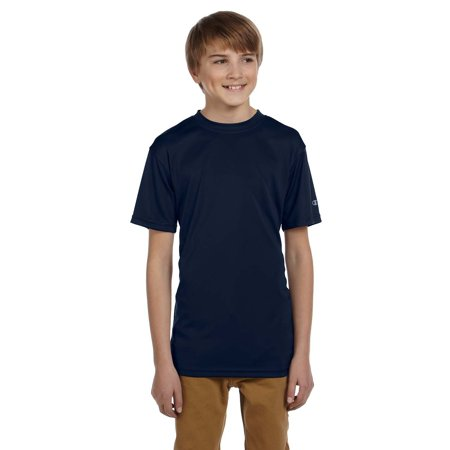 811c504a Branded Champion - Branded Champion Double Dry Youth 41 oz Interlock T-Shirt  - NAVY - L (Instant Saving 5% & more on min 2) - Walmart.com
