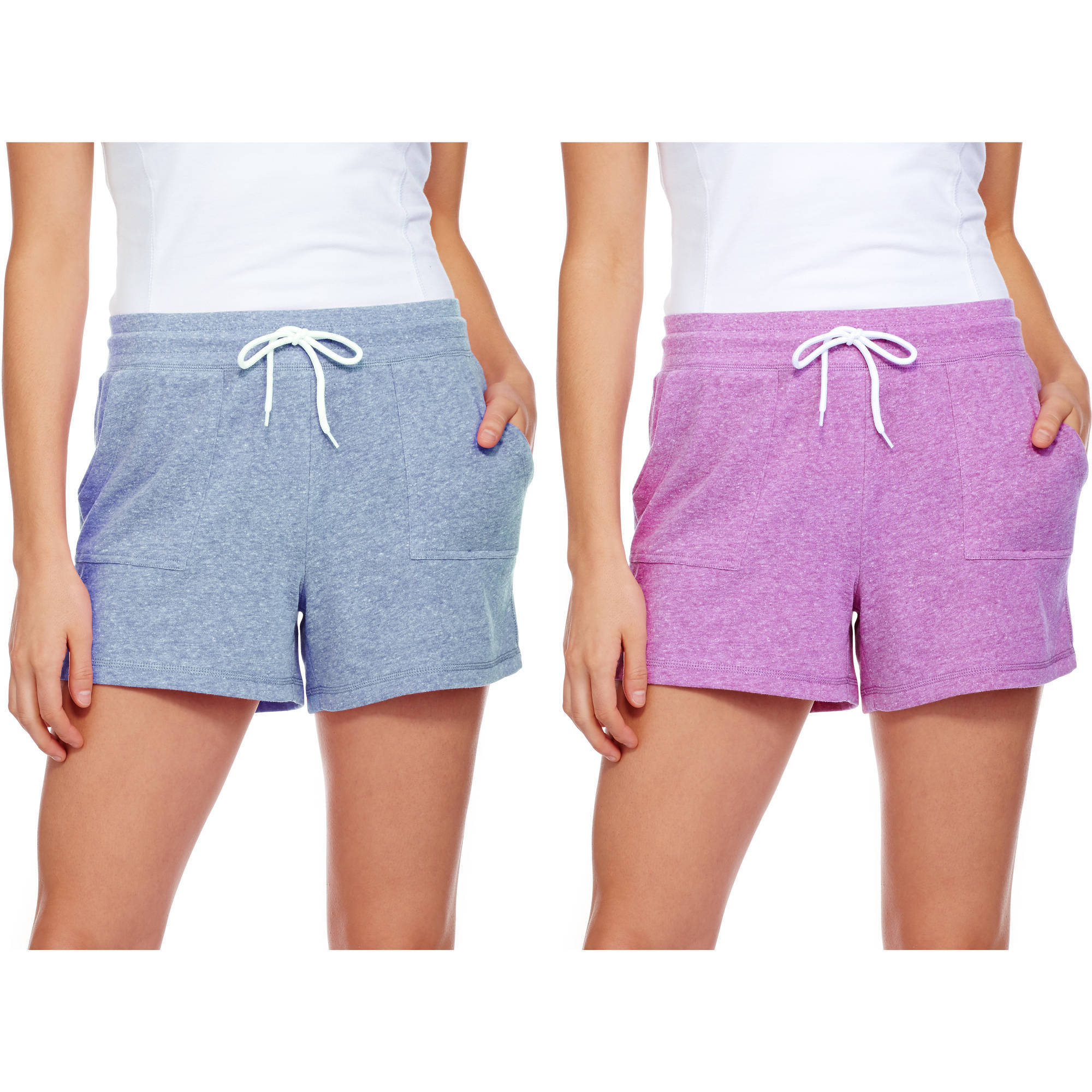 Athletic Works Women's Active Knit Gym Shorts, 2 Pack Value Bundle