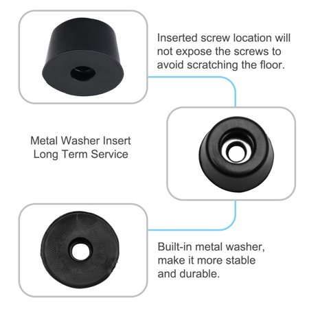 14pcs Rubber Feet Bumper Buffer Desk Protector with Metal Washer, D17x14xH10mm - image 1 of 7