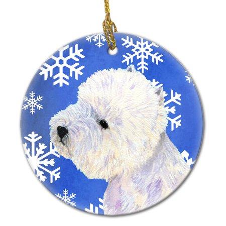Westie Winter Snowflake Holiday Ceramic Ornament LH9270 ()