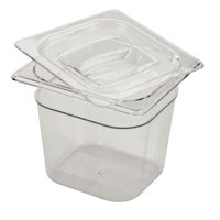 Rubbermaid Commercial 106PCLE 6 in. Cold Food Pans, Clear