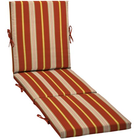 Chaise outdoor cushion cabana stripe for Cabana chaise lounge