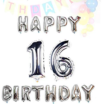 Sweet 16 Balloons Silver Number Balloons 30 New Years Eve 21st Birthday 16 Number Balloons 34 Jumbo Number Balloons for Anniversary