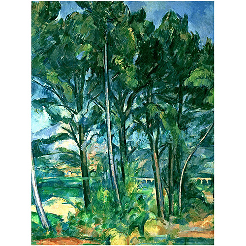 "Trademark Fine Art ""The Aqueduct"" Canvas Art by Paul Cezanne"