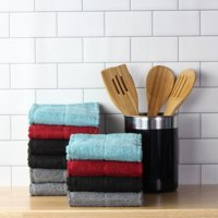 Mainstays (10) Piece Terry Kitchen Towel Set in Solid Colors