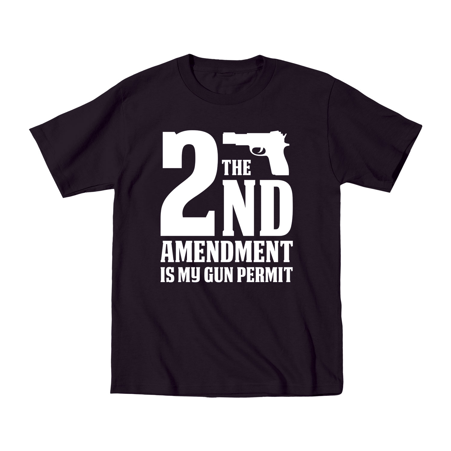 2nd Amendment Is My Gun Permit Ammo Guns Hunting Novelty Funny - Mens T-Shirt
