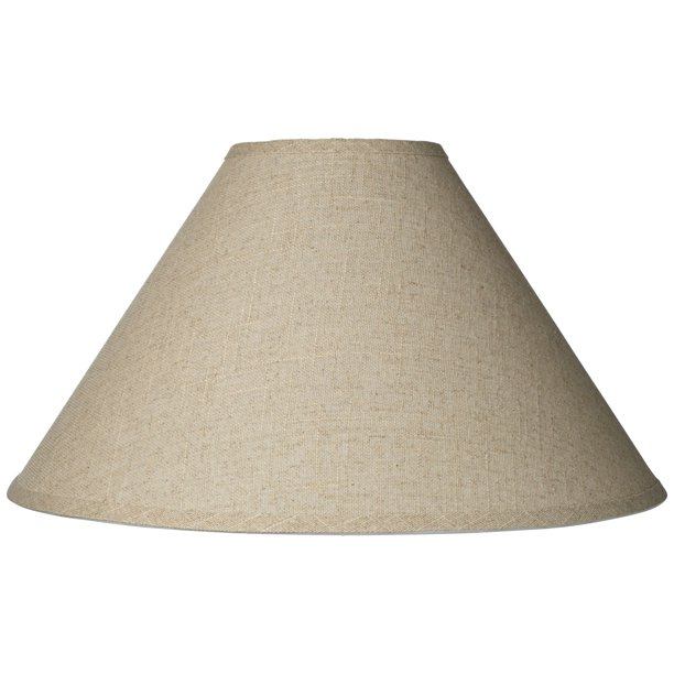 Brentwood Burlap Empire Lamp Shade Rustic Fabric With Harp 6x19x12