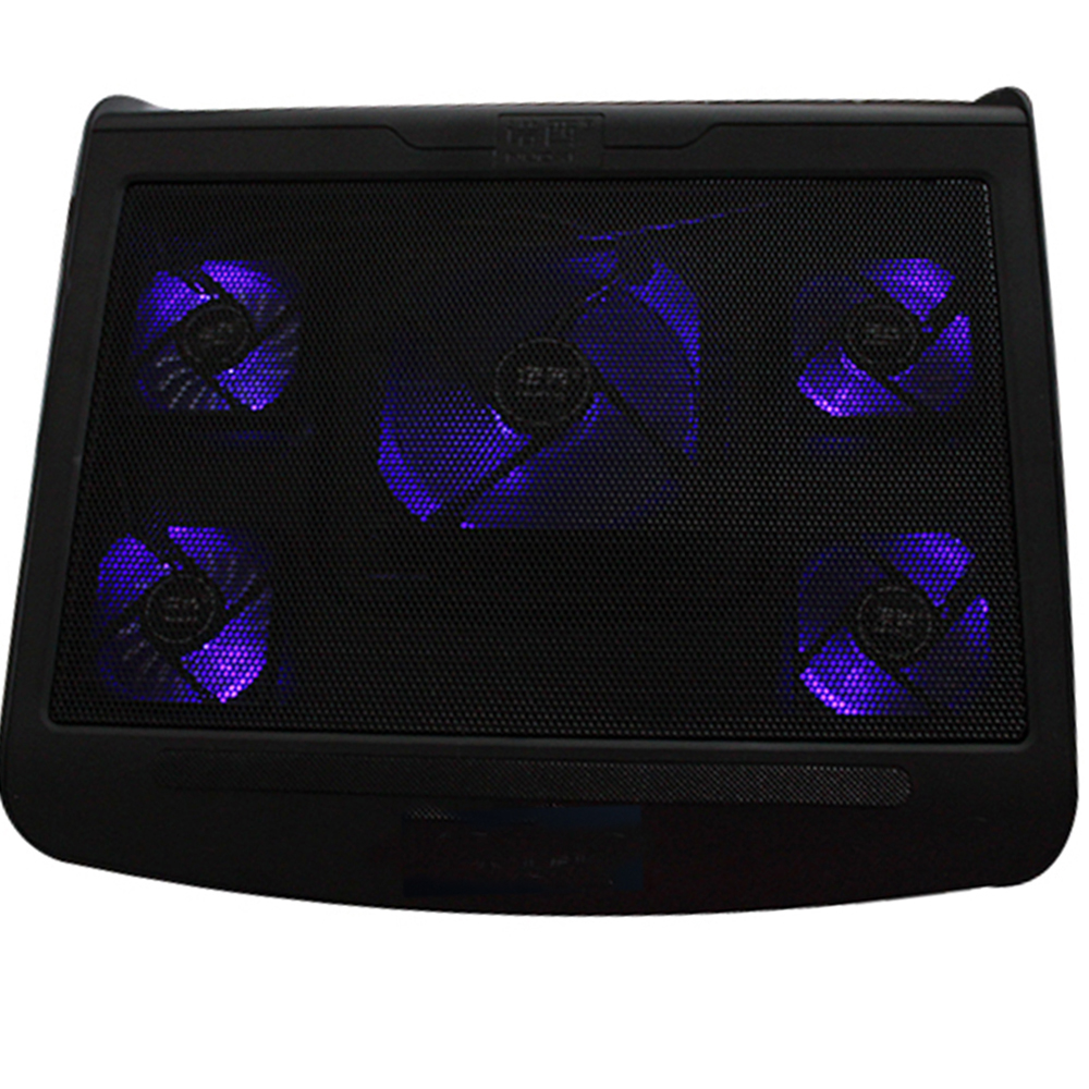 """Image 5 Fans Laptop Cooling Pad Cooler for 10-17"""" Notebook Laptop w/ Extra USB Port"""
