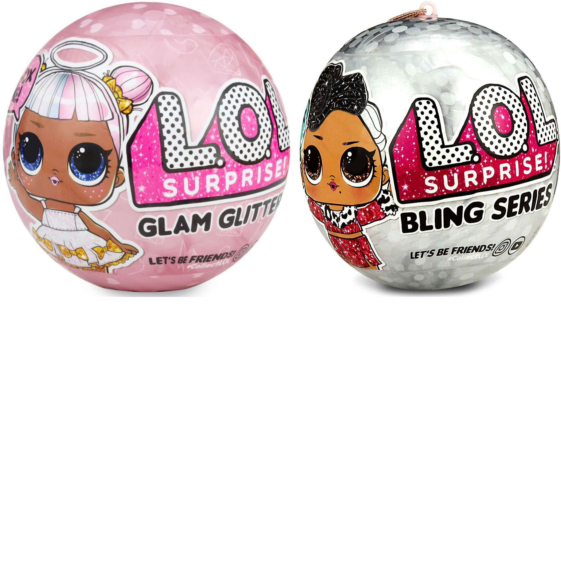 LOL Surprise 1x Bling Big Sister & 1x Glam Glitter Mystery Pack BUNDLE