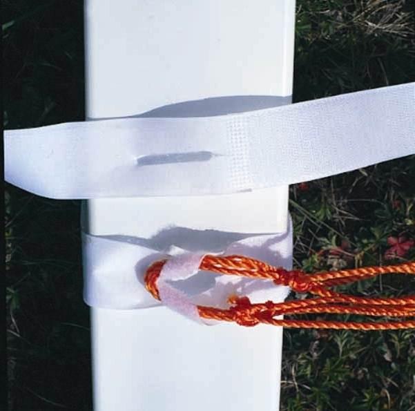 Reusable White Hook and Loop Ties - 24 Pc Set (10 in. Quick Velcro Ties)