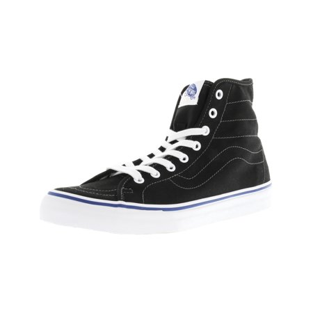 8c94d8dbe4 Vans Sk8-Hi Decon Canvas Black   True White Ankle-High Fashion Sneaker -  12M 10.5M - Walmart.com