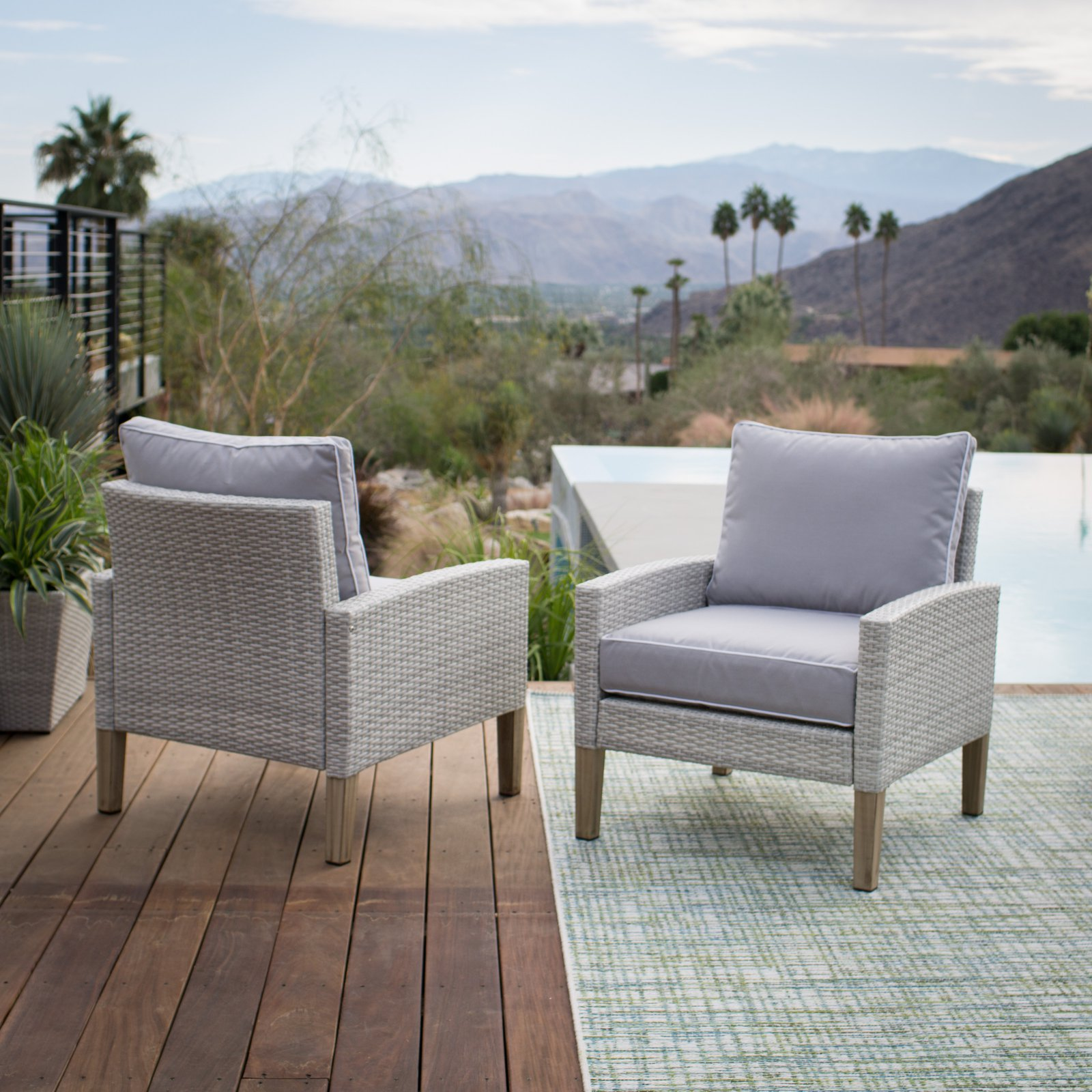 Belham Living Clermont All Weather Wicker Chairs
