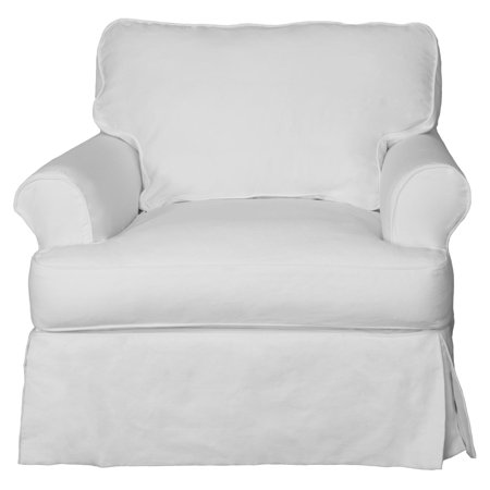 Sunset Trading Horizon T-Cushion Chair and Ottoman Slipcover Set (Chair Ottoman Slipcovers)