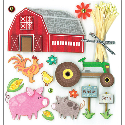K & Company Dimensional Stickers, Farm Life