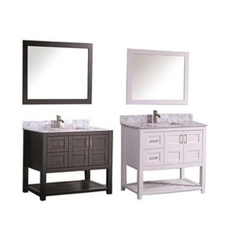 MTD Vanities Norway 36 Inch Single Sink Bathroom Vanity Set With Mirror And F