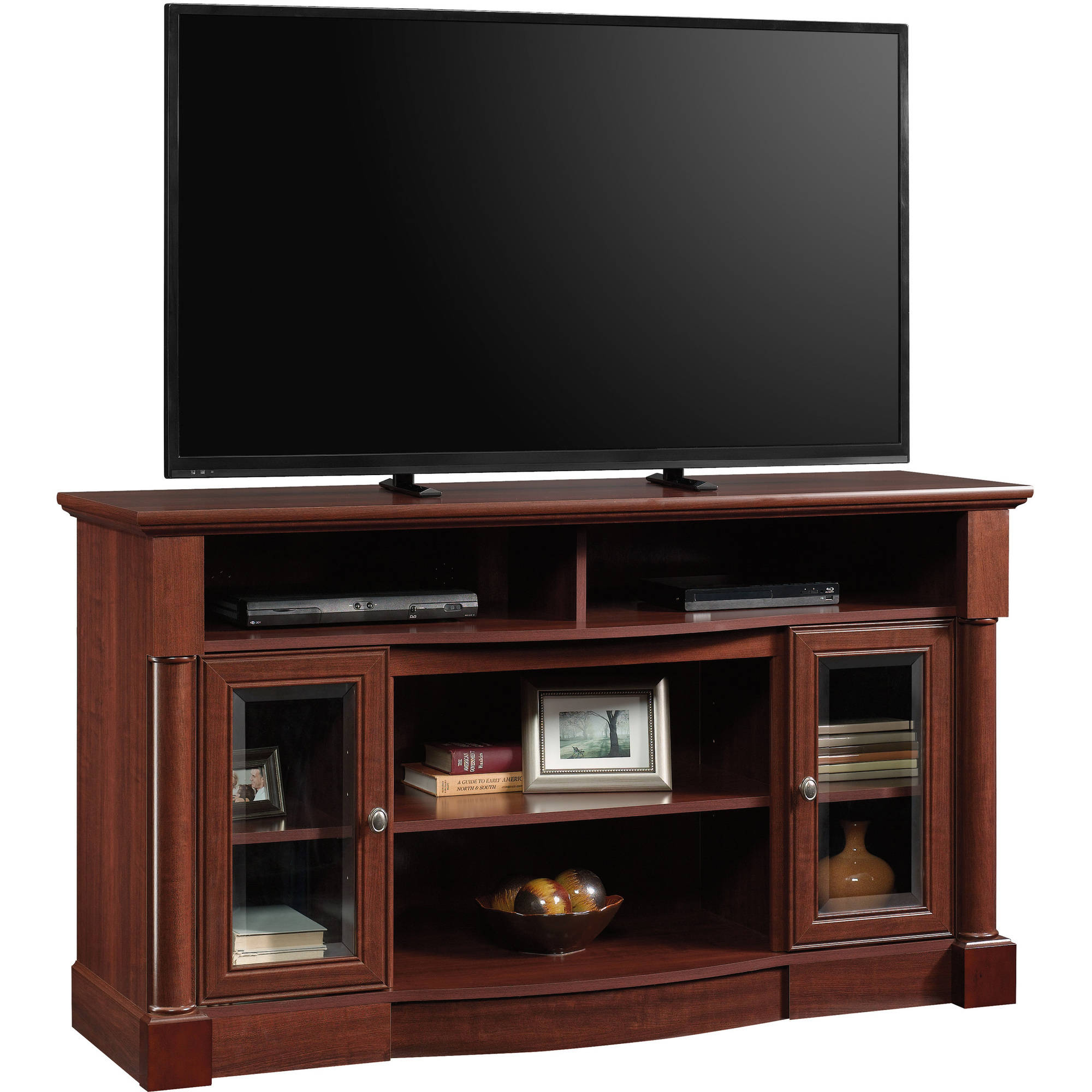 "Sauder Palladia Entertainment Credenza for TVs up to 60"", Select Cherry Finish"