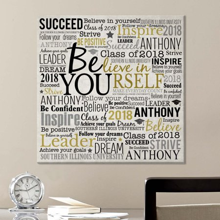 Personalized Believe in Yourself Canvas, Available in 2 Sizes (Personalized Shelf)
