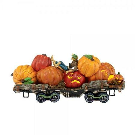 Department 56 Halloween Ideas (Department 56 Snow Village Halloween Jack and His Lanterns Train Car Lit Ornament,)