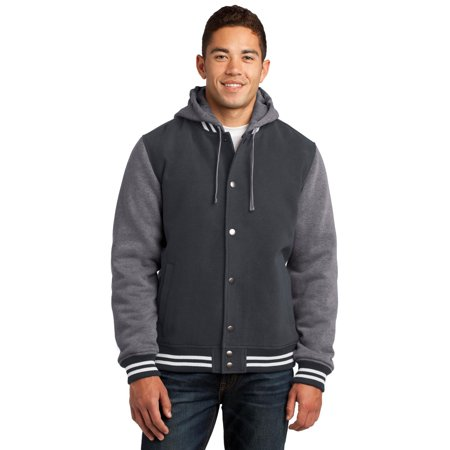 Sport Tek Men's Drawcord Letterman Jacket_Graphite Grey/ Vintage Heather_S](Design Your Own Letterman Jacket)