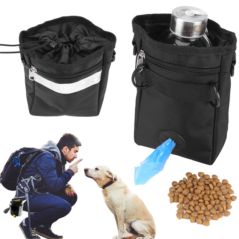 Dog Puppy Treat Bag Walking Pouch with Adjustable Strap for Outdoor Travel Use, Dog Puppy Treat Bag, Puppy... by