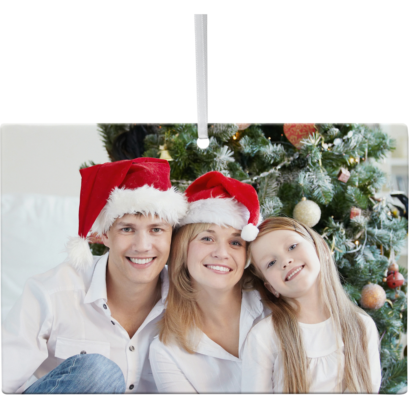 Personalized Perfect Image Rectangle Christmas Photo Ornament