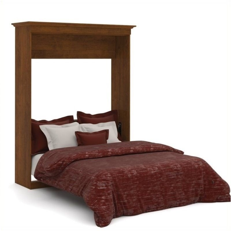 Bowery Hill Queen Wall Bed in Tuscany Brown