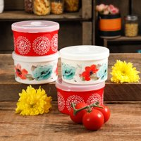 The Pioneer Woman Flea Market 4-Count Round Container Set