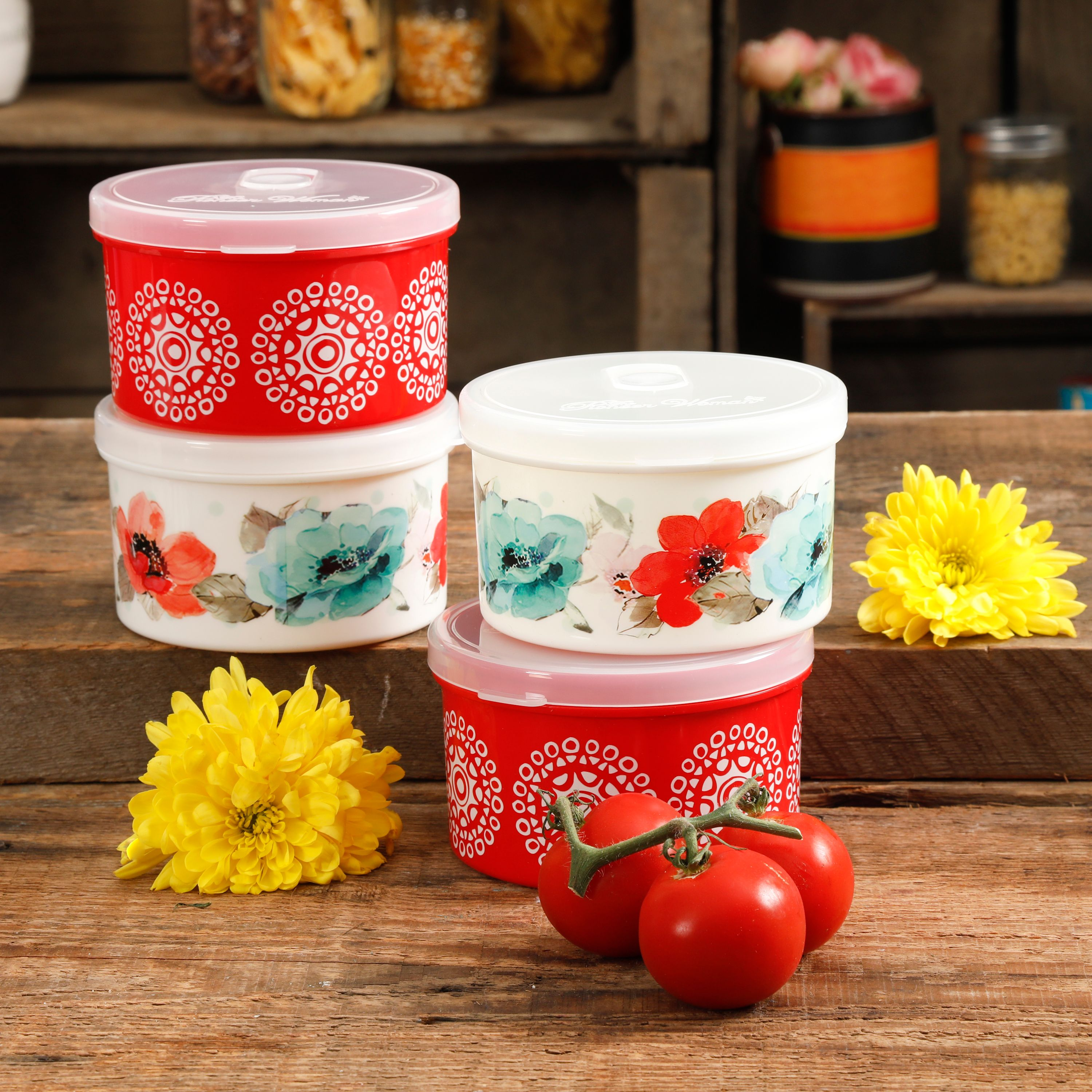 Pioneer Woman Storage Container Sets as Low as $9 at Walmart!